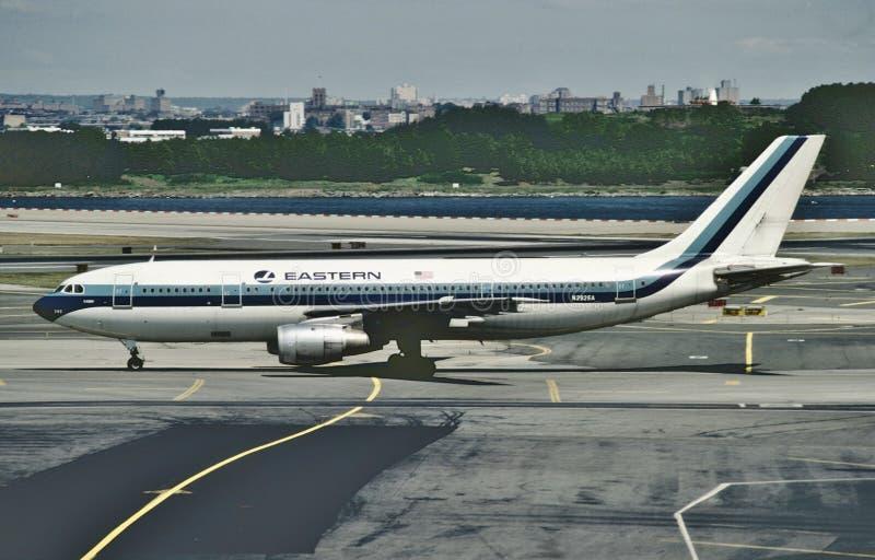 Eastern Air Lines Aerobus A300 po lądować od lota od Miami obrazy royalty free
