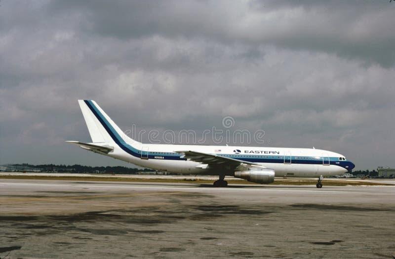 Eastern Air Lines Aerobus A300 po lądować od lota od Miami zdjęcia stock