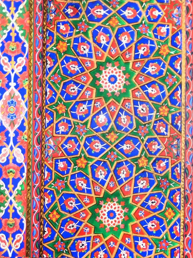Eastern arabic decorative architectural pattern stock image