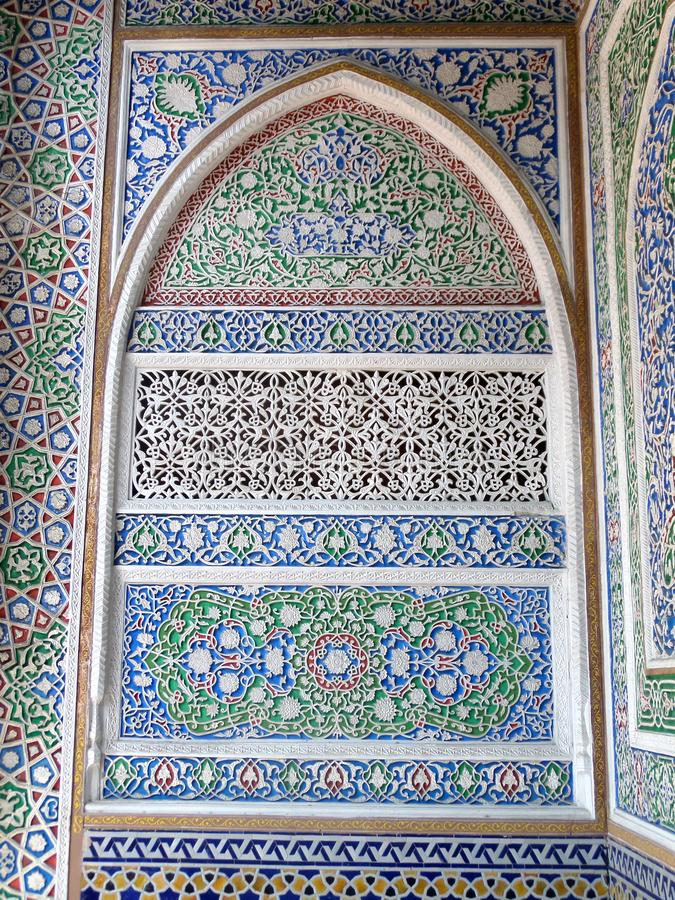 Eastern arabic decorative architectural pattern stock photos