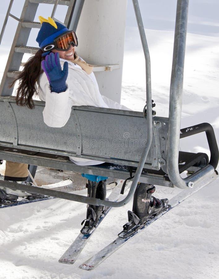 Free Eastern Arizona White Mountains Snowfall Skiing Stock Photography - 28227352