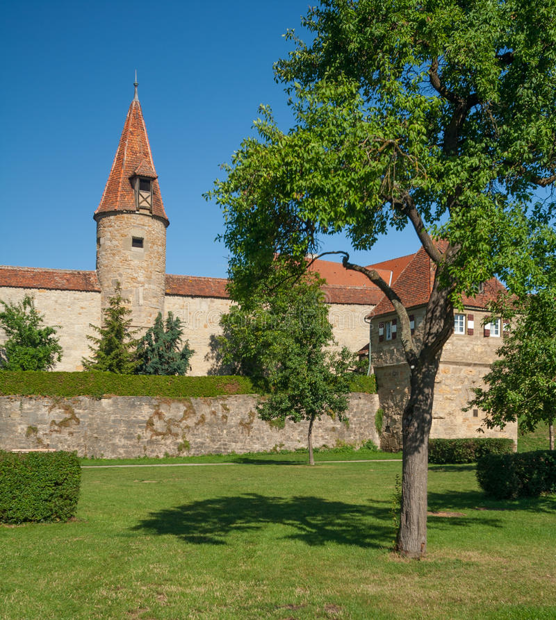Download Eastern City Wall In Rothenburg Ob Der Tauber Stock Image - Image: 26458929