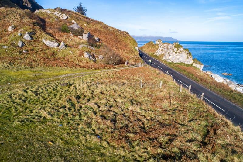 Causeway Coastal Route in Northern Ireland stock photo