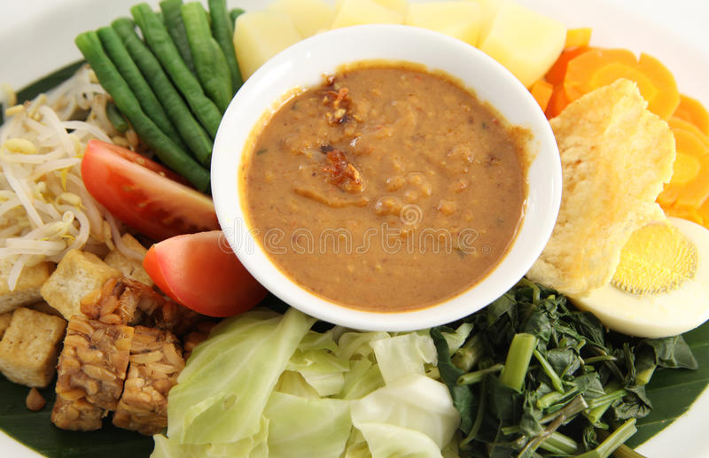Eastern cuisine. Peanut sauce for Eastern cuisine named gado-gado from indonesia. see my food images stock photography