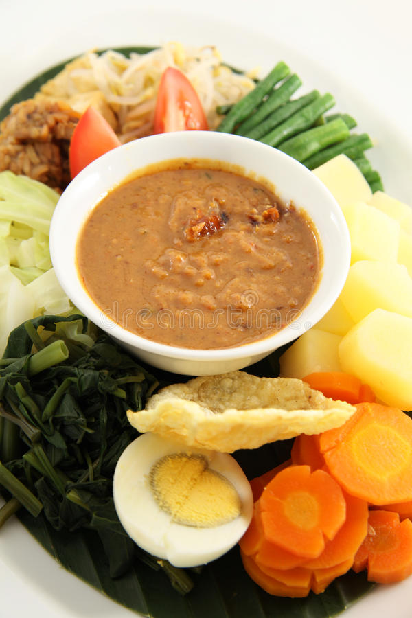 Eastern cuisine. Peanut sauce for Eastern cuisine named gado-gado from indonesia. see my food images royalty free stock image