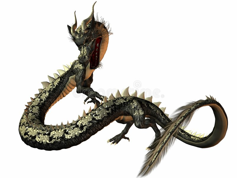 Eastern Dragon stock photos