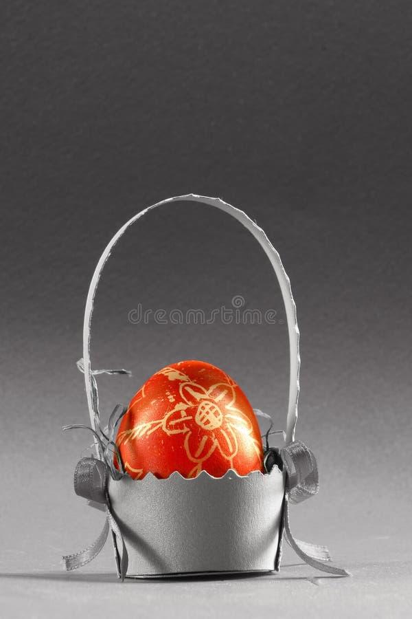 Eastern egg. Gift, present, holiday, decoration, Eastern, egg, the resurrection, keeper, home, house, watcher, hamper, basket, faith, religion, belief, hope stock photos