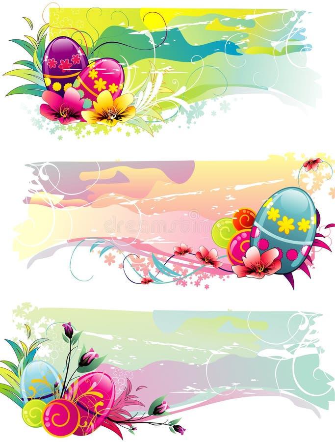 Eastern eggs. Background eastern colors eggs illustration stock illustration