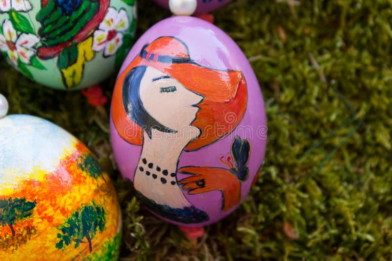 eastern eggs handpainted stock photography