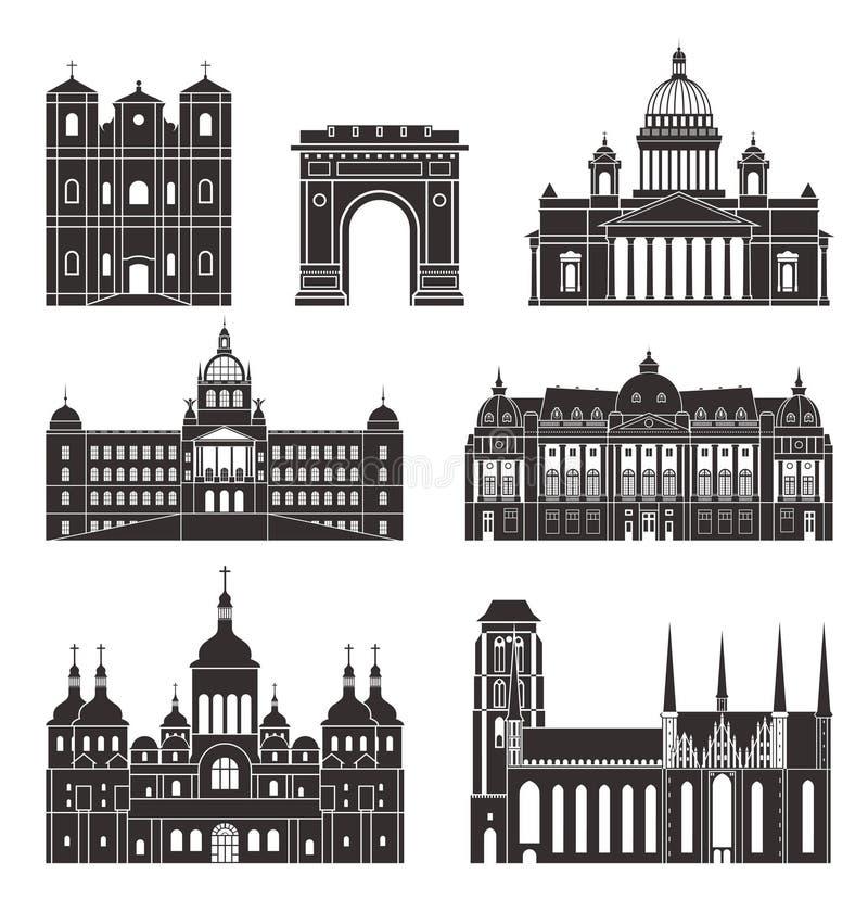 Eastern Europe royaltyfri illustrationer