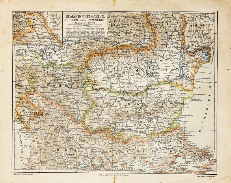 Download Eastern Europe old map stock photo. Image of ancient - 18431304