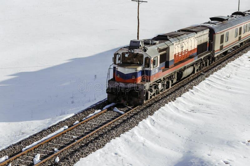 Eastern expres, Kars dogu express. Eastern expres, Kars dogu expresi,torurıstıc train Turkey royalty free stock photos
