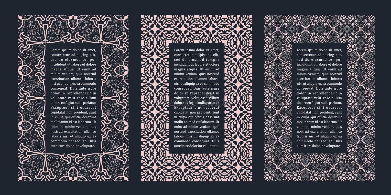 Eastern gold arabic vector lines design templates. Muslim floral frame for card and postcard stock illustration