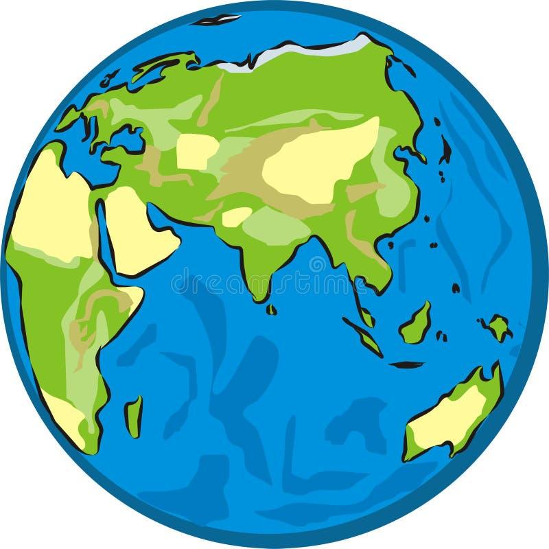 Eastern hemisphere royalty free illustration