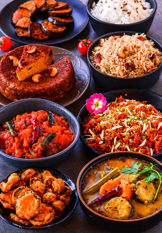 Eastern India Odisha main course buffet stock image