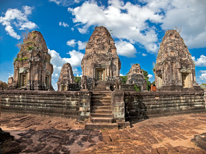 Eastern Mebon temple in Angkor wat complex, Cambodia. Eastern Mebon temple at Angkor wat complex, Cambodia. Built during the reign of King Rajendravarman, it stock image