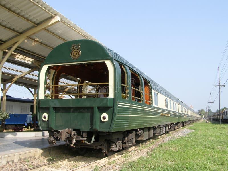Eastern & Oriental Express train. CHIANGMAI , THAILAND - OCTOBER 26 2006: Eastern & Oriental Express train. Train from Bangkok. Photo at chiangmai railway stock photo