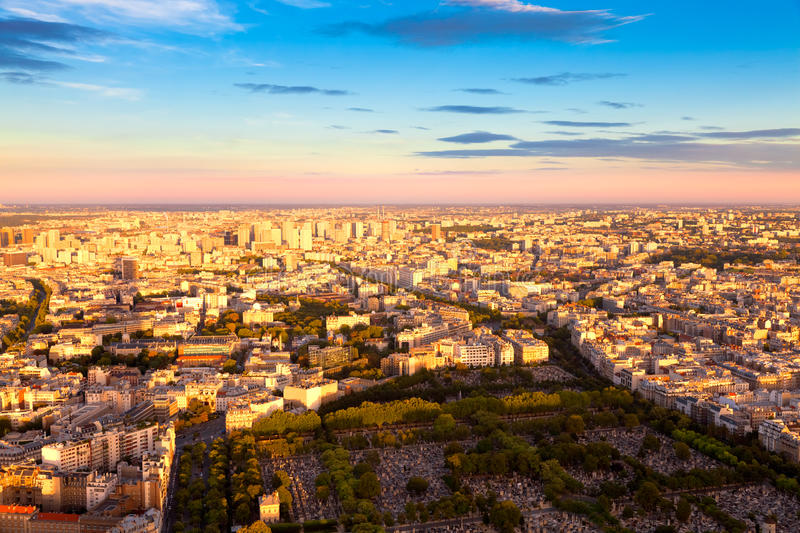 Download Eastern Paris Before Sunset Stock Image - Image: 15917663