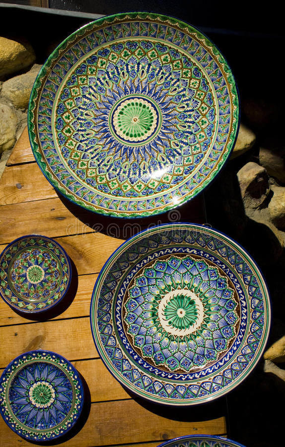 Download Eastern plates stock photo. Image of object, blue, dishes - 15554736
