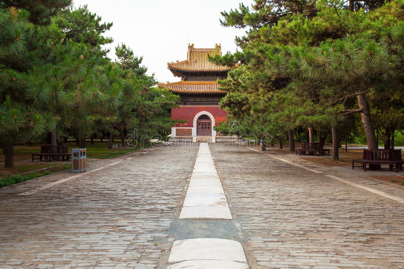 Eastern Qing Mausoleums- Cian Mausoleum scenery. Eastern Qing Mausoleums is one of the last dynasty Mausoleum area in China royalty free stock image