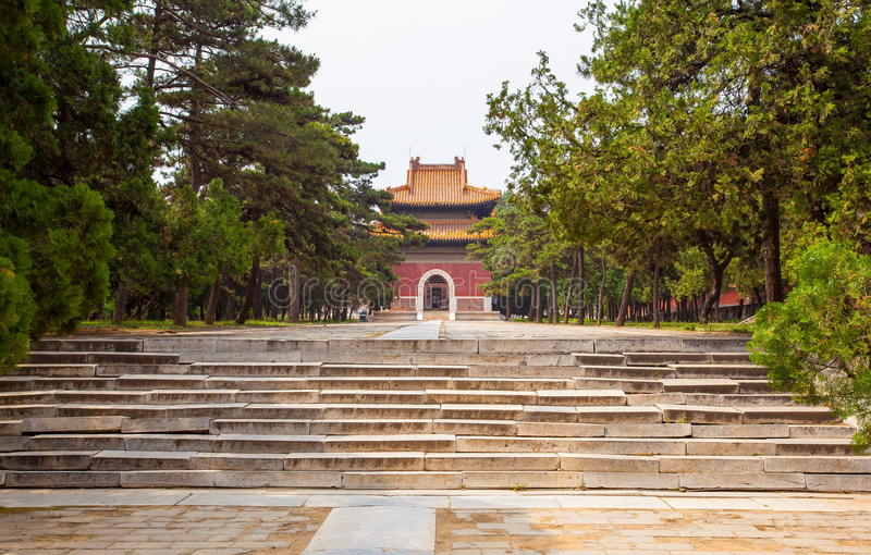 Eastern Qing Mausoleums- Cixi Mausoleum scenery. Eastern Qing Mausoleums is one of the last dynasty Mausoleum area in China royalty free stock photo