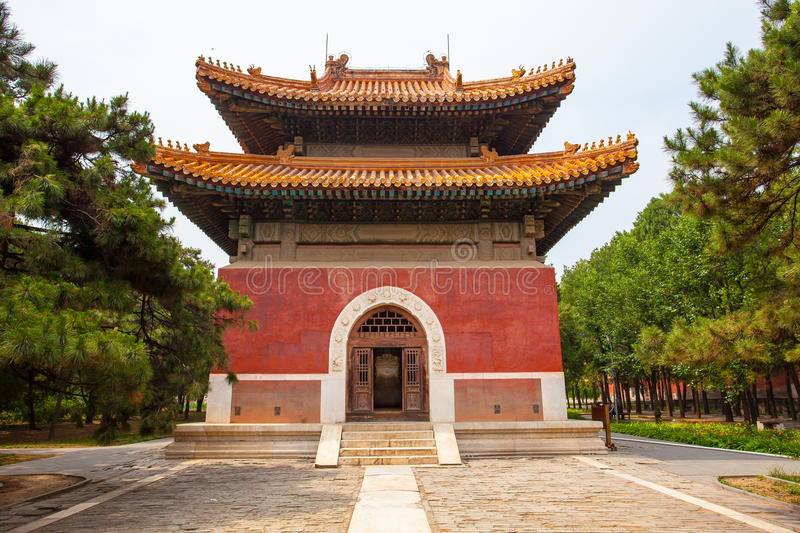 Eastern Qing Mausoleums- Cixi Mausoleum scenery. Eastern Qing Mausoleums is one of the last dynasty Mausoleum area in China stock images