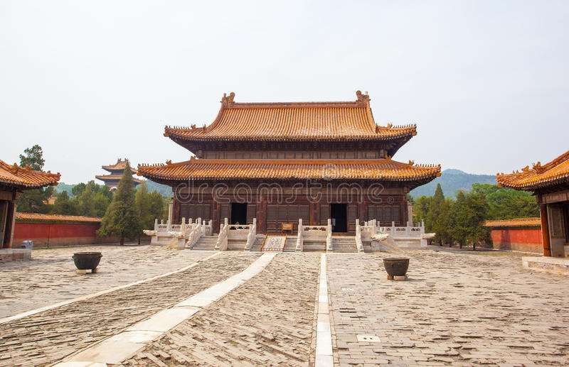 Eastern Qing Mausoleums- Cixi Mausoleum scenery. Eastern Qing Mausoleums is one of the last dynasty Mausoleum area in China royalty free stock photography