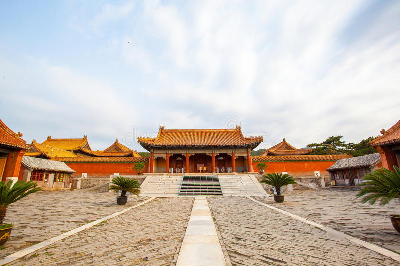 Eastern Qing Mausoleums- Cixi Mausoleum scenery. Eastern Qing Mausoleums is one of the last dynasty Mausoleum area in China royalty free stock photos
