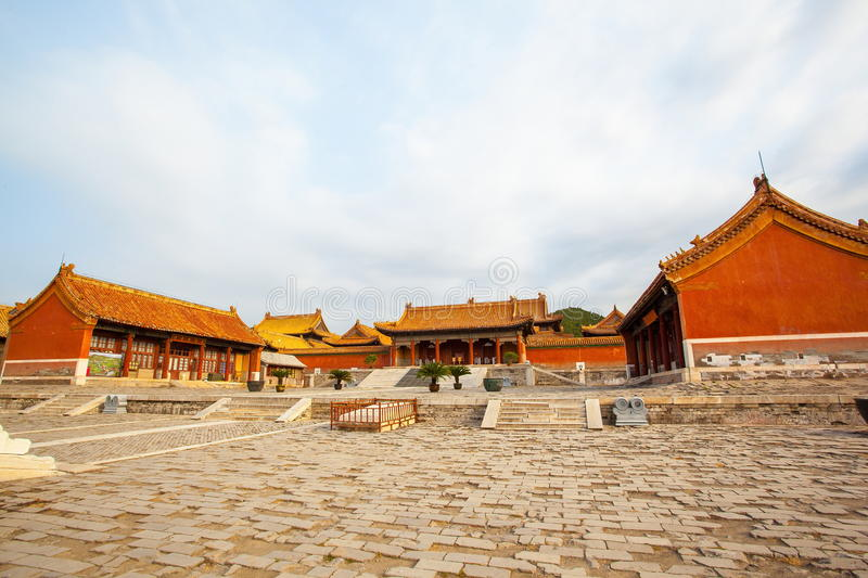 Eastern Qing Mausoleums- Cixi Mausoleum scenery stock photo