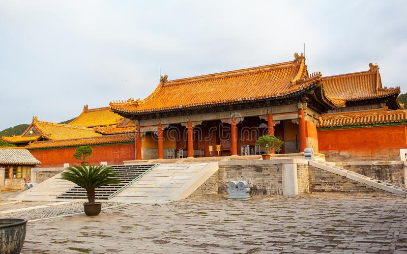 Eastern Qing Mausoleums- Cixi Mausoleum scenery. Eastern Qing Mausoleums is one of the last dynasty Mausoleum area in China stock photography