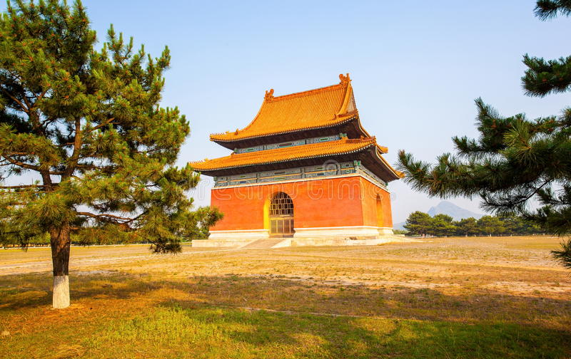 Eastern Qing Mausoleums scenery -Main spirit road buildings stock photos