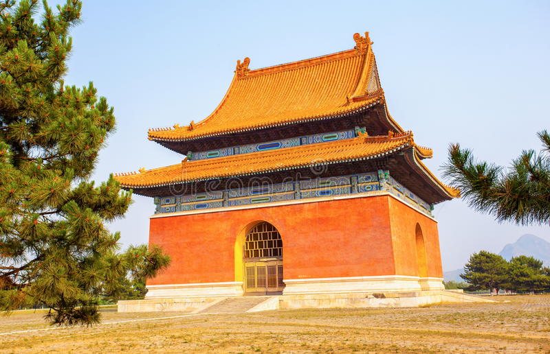 Eastern Qing Mausoleums scenery -Main spirit road buildings stock image