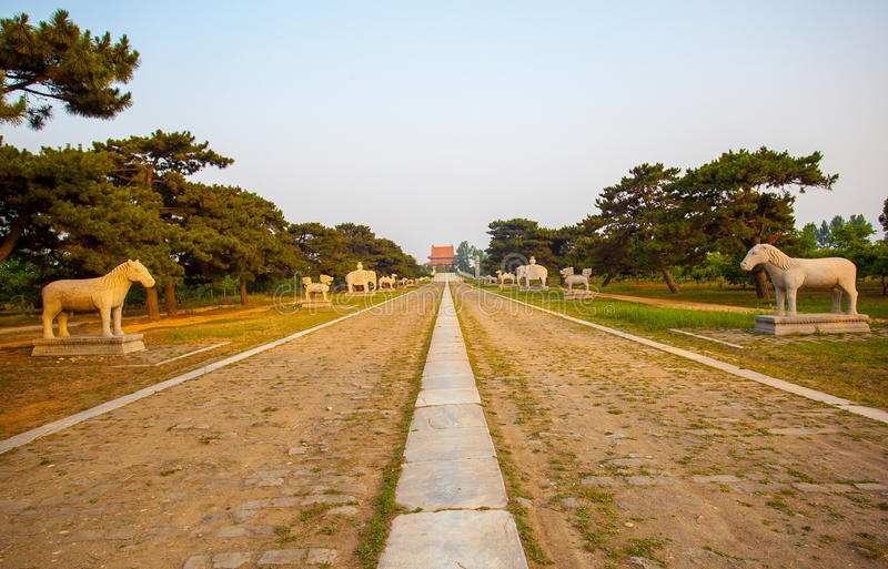 Eastern Qing Mausoleums scenery- Yu Mausoleum(Qian Long) royalty free stock photography