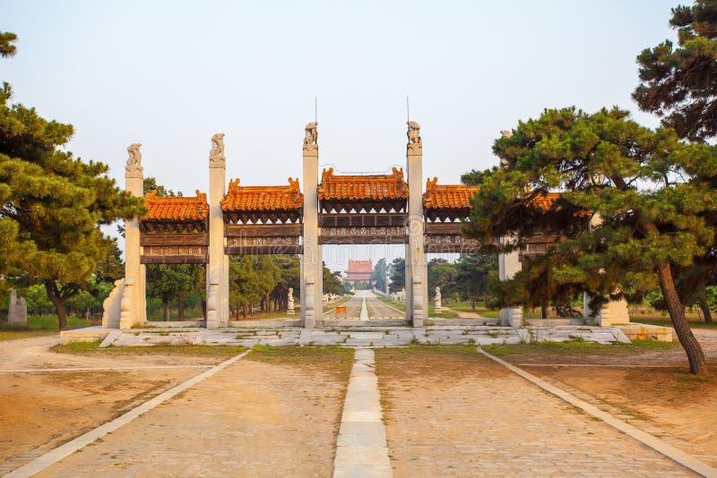 Eastern Qing Mausoleums scenery- Yu Mausoleum(Qian Long) royalty free stock photos