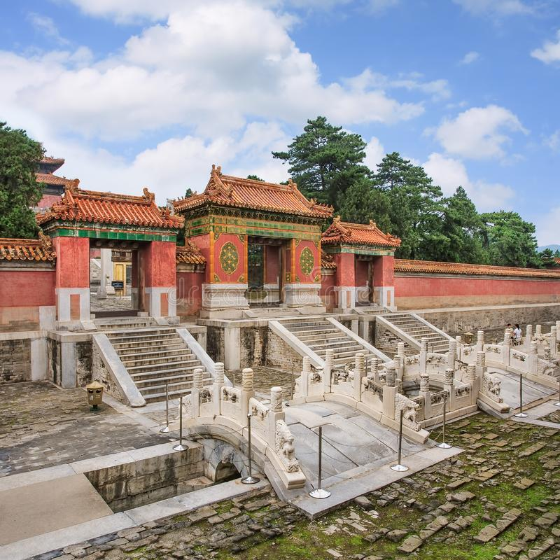 Eastern Qing Tombs, Yixian County, southwest of Beijing, China stock photography