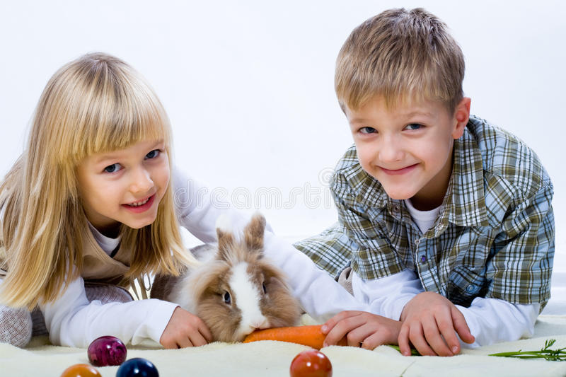Download Eastern rabbit stock image. Image of holiday, flowers - 11172073