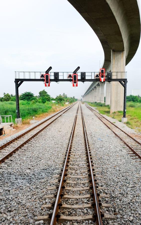 Eastern railway line stock images