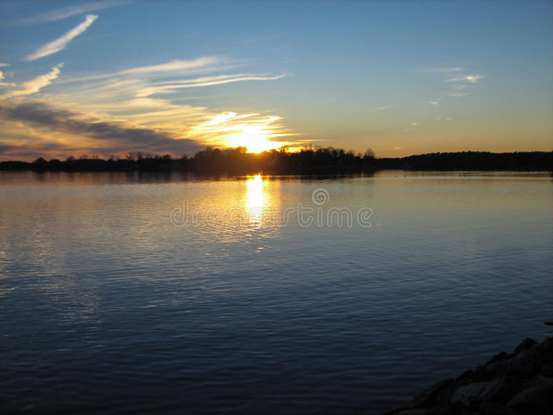 Eastern Shore Sunset royalty free stock photography