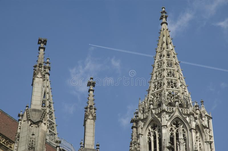 Detail of Ulm Minster stock image