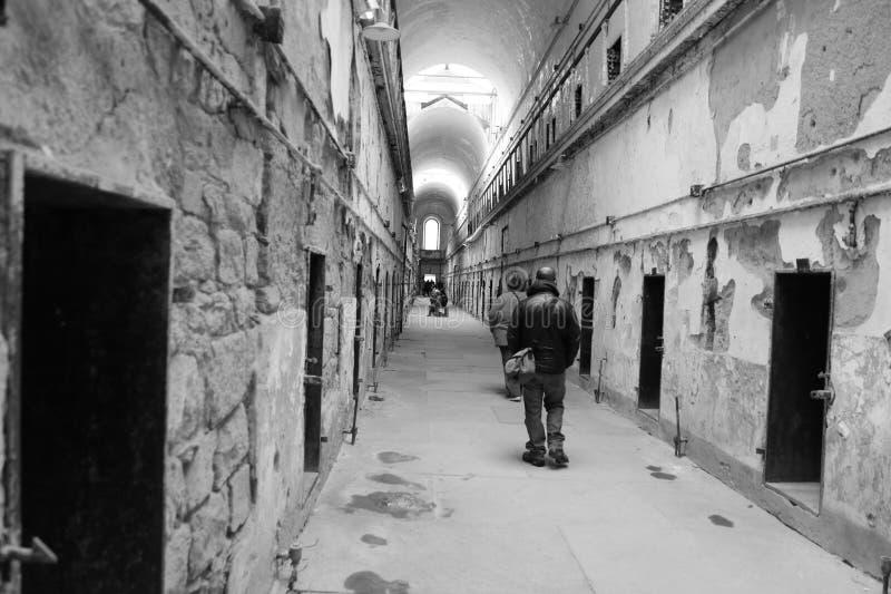 Old Penitentiary in Philadelphia,Pennsylvania. Eastern State Penitentiary Cell block in Philadelphia, Pennsylvania royalty free stock photos