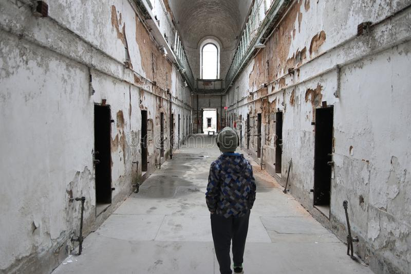Old Penitentiary in Philadelphia,Pennsylvania stock photography
