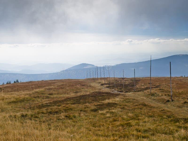 Eastern Sudetes, mountain range High Jeseník. High Ash Mountains is the second highest mountain range in the Czech Republic stock photos