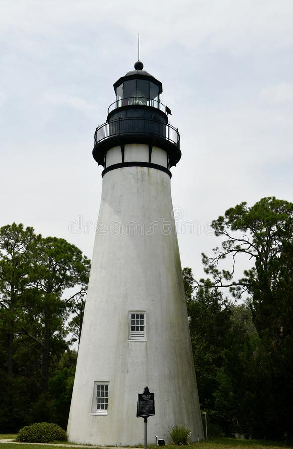 Eastern View of Amelia Island Light stock photos