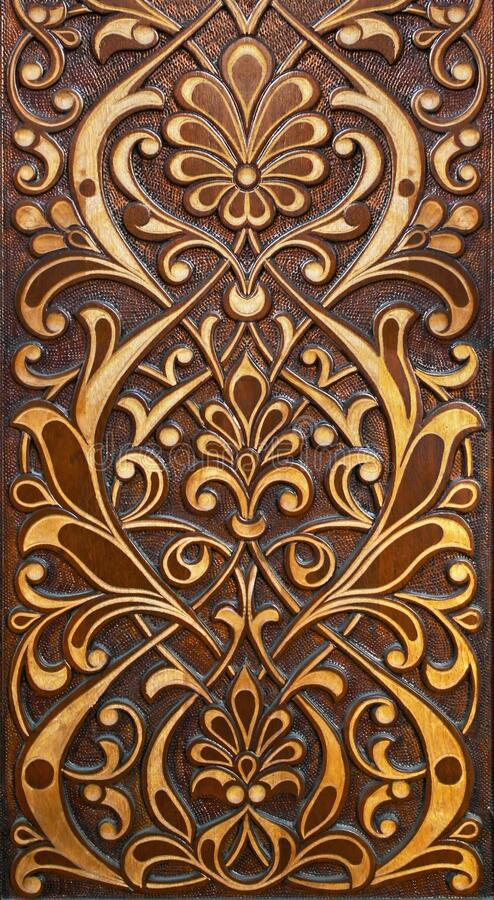 Free Eastern Wooden Carvings With Beautiful Patterns.Eastern Doors. Stock Photos - 178296513