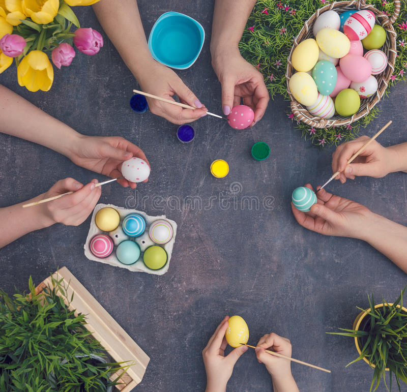 Free Eastertime Background Table Royalty Free Stock Image - 88035416