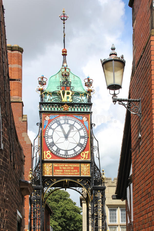 Eastgate Clock. Chester. England stock image