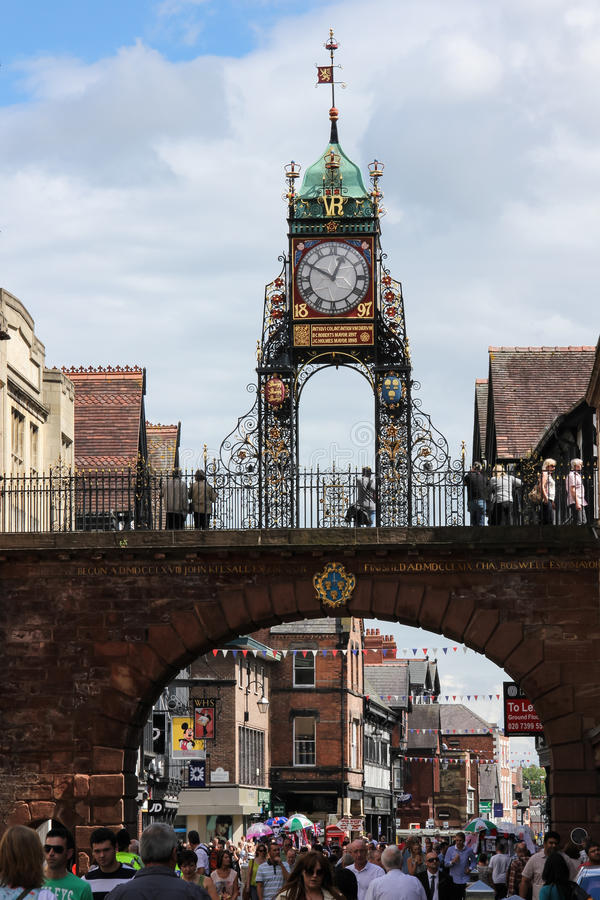 Eastgate Clock. Chester. England royalty free stock photos