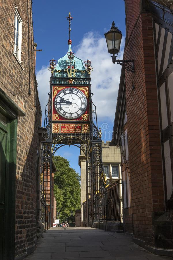 The Eastgate Clock in Chester royalty free stock photography