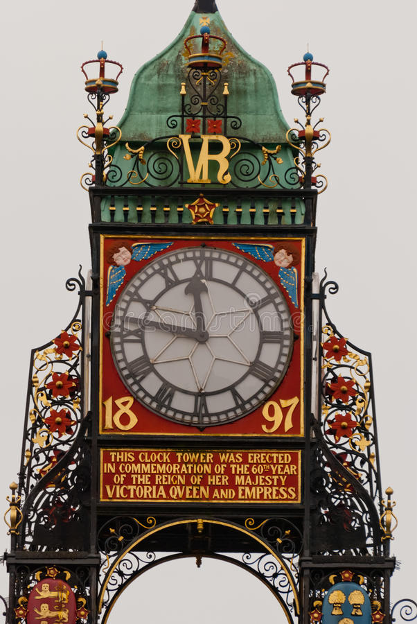 Download Eastgate Clock Detail In Chester, England Stock Photo - Image: 28832532