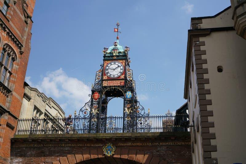 Eastgate y reloj de Eastgate, Chester imagen de archivo libre de regalías